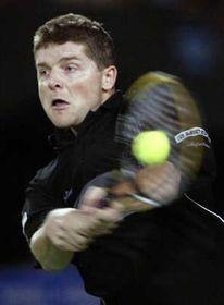 Jiri Novak beats world number one Lleyton Hewitt, photo: CTK