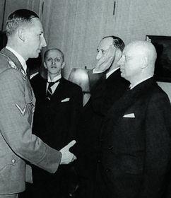 Р. Гейдрих и Э. Moравец, фото: Repro z knihy Až na dno zrady