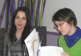 Radka Bobková (vlevo) aKarolína Volková, foto: Zdeňka Kuchyňová