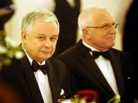 Lech Kaczynski et Václav Klaus, photo: CTK