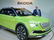 Bernhard Maier with Škoda Vision X, photo: CTK