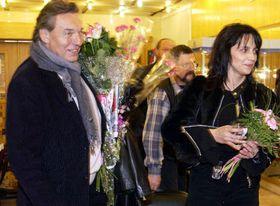 Карел Готт и Люция Била в Москве (Фото: ЧТК)