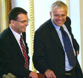 Lubomír Zaorálek, Vladimir Spidla, Foto: CTK