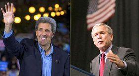 Джон Керри и Джордж Буш (Фото: ЧТК)