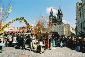 Easter market at Old Town Square, photo: CzechTourism