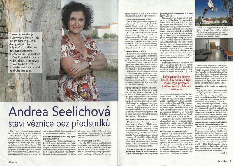 Rozhovor Andrey Seelichové pro Právo