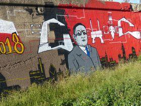 La peinture murale de l'ancien maire de Chicago, Anton Čermák, photo: Klára Stejskalová