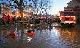 Záplavy vTřebíči, foto: ČTK