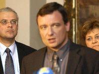 Vladimir Spidla, David Rath, Marie Souckova, photo: CTK