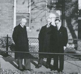 Členové CSNRA, zleva: Vojta Beneš, Jaroslav Zmrhal aJosef Martínek, zdroj: Compatriots and Czechoslovak Foreign Resistence 1938 – 1945
