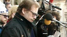 Václav Havel in 1989, photo: Czech Television