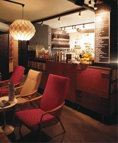 The bar at Lounge Bohemia is made from wood from Pavel Tvaroh's grandmother's home, photo: David Turecký