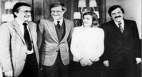 Karel Köcher et son épouse Hana, entourés de deux autres agents, photo: wmediation.com