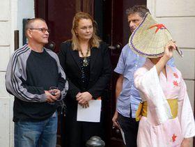 Pavel Trnka (vlevo) na vernisáži, foto: autorka