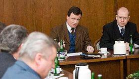 David Rath (vlevo) sBohuslavem Sobotkou, foto: ČTK