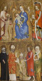 Votivní obraz Jana Očka zVlašimi, Praha, před 1371, tempera na jedlové podložce, foto: Národní galerie vPraze