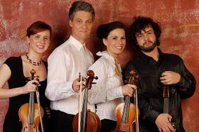 Le quatuor Škampa, photo: Jakub Ludvík, www.skampaquartet.cz