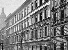 Vinohradská synagoga, pohled z ulice Moravská, foto: volný zdroj