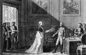 Папа римский Пиуя шестой и Иосиф Второй в Вене