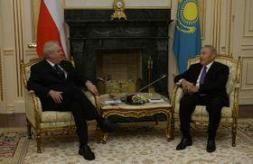 Miloš Zeman et Noursoultan Nazarbayev, photo: ČTK