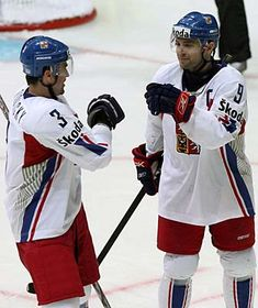 David Vyborny et Marek Zidlicky, photo: CTK