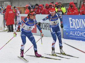 Gabriela Koukalová y Veronika Vítkováí foto: ČTK