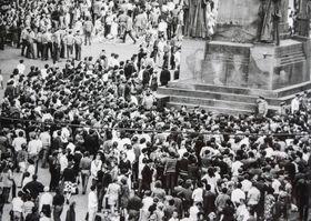 Вацлавская площадь в августе 1969 года, фото: Музей полиции ЧР