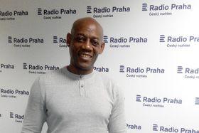 León Paulino Puey Marrero en Radio Praga, foto: Dominika Bernáthová
