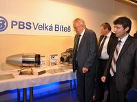Miloš Zeman in  the Czech machinery company PBS Velká Bíteš, photo: archive of PBS