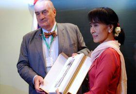 Karel Schwarzenberg y Suu kyi, foto: Jaromír Marek