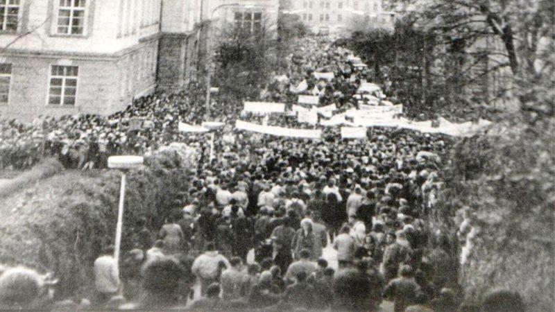 Le 17 novembre 1989, photo: Archives de P. Čepek, La faculté des Sciences de l'Université Charles / ČT24