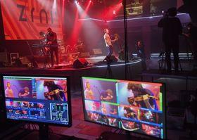 Rock band Zrní streaming their concert in Lucerna Music Bar, photo: ČTK/Vít Šimánek