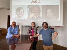 Daniel Ryba, Tereza Semotamová und Patrick Hamouz (Foto: Archiv Jádu)