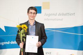 """Jiří Štráberger (Foto: Archiv """"Jugend debattiert international"""")"""
