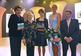 Ája Vrzáňová, Věra Čáslavská, Martina Sáblíková, Barbora Špotáková y Josef Váňa, foto: ČTK