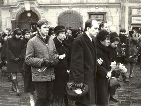 Beerdigung von Jan Palach (Foto: Post Bellum)