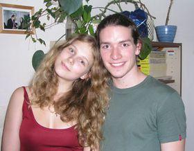 Jirí Srnec junior y su esposa, Karolína Srncová