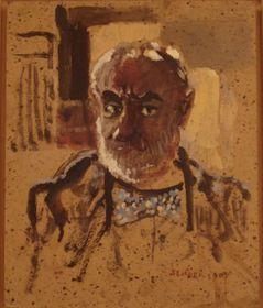 Autoportrait, huile sur carton, 2003