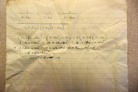 Pod prkny podlahy byla nalezeny poznámky zhodiny matematiky, foto: Jaromír Marek, archiv ČRo