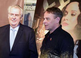 Президент Милош Земан (слева) и режиссер картины Филип Ренч, Фото: ЧТК