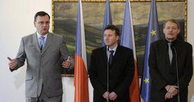 Петр Нечас, Милан Кубек и Мартин Энгел (Фото: ЧТК)