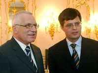 President Vaclav Klaus and the Dutch Prime Minister Peter Balkenend, photo: CTK