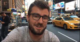 Janek Rubeš en Nueva York, foto: YouTube