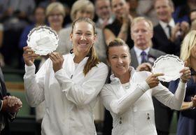 Nicole Melichar und Květa Peschkeová (Foto: ČTK / AP Photo / Tim Ireland)