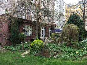 The garden at Café Alchymista, photo: Ian Willoughby
