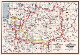 Карта БНР 1918 года, открытый источник