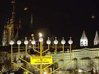 Menorah on Namesti Jana Palacha, photo: CTK