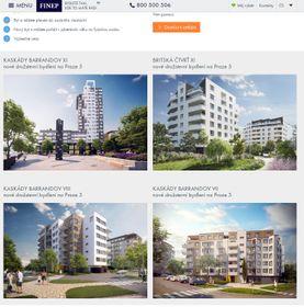 Finep-Webseite mit der Angebot der Genossenschaftswohnungen