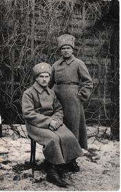 Czechoslovak legionaire Eduard Pohanka (sitting) fell in Russia fighting Bolsheviks, photo: archive of Vít Pohanka
