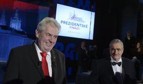 Miloš Zeman and Karel Schwarzenberg, photo: CTK